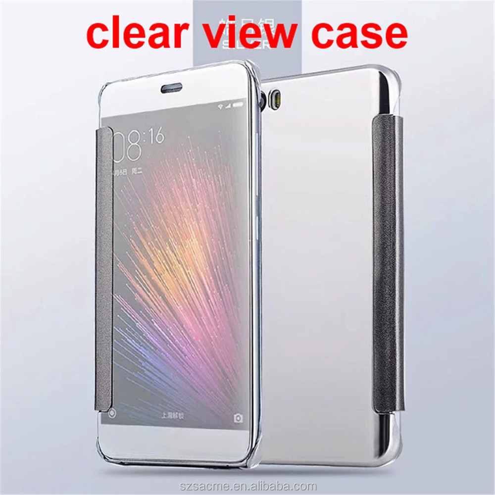 Luxury Plating Touch Sensitive Clear View Smart Flip Mirror Case for Huawei Ascend Mate 9
