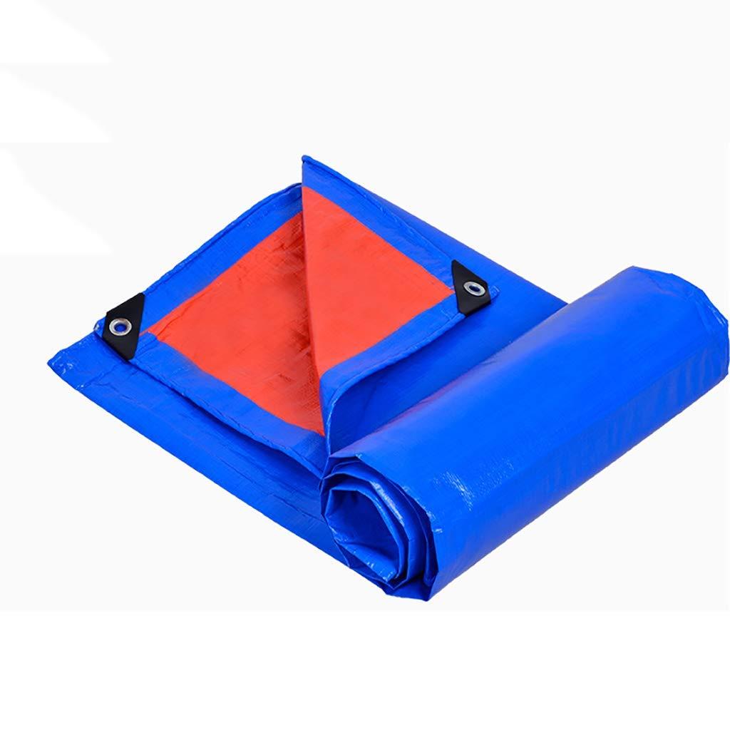 Tarpaulin Blue PE Plastic Tarp, Multi-Purpose Waterproof Cover, Awning, Double-Sided Picnic Mat, Tent Shelter Wind Protectors