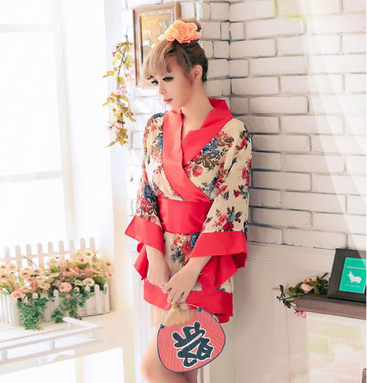 Kostenlose Probe Nette Frauen Kurz Günstige Kimono Cosplay ...