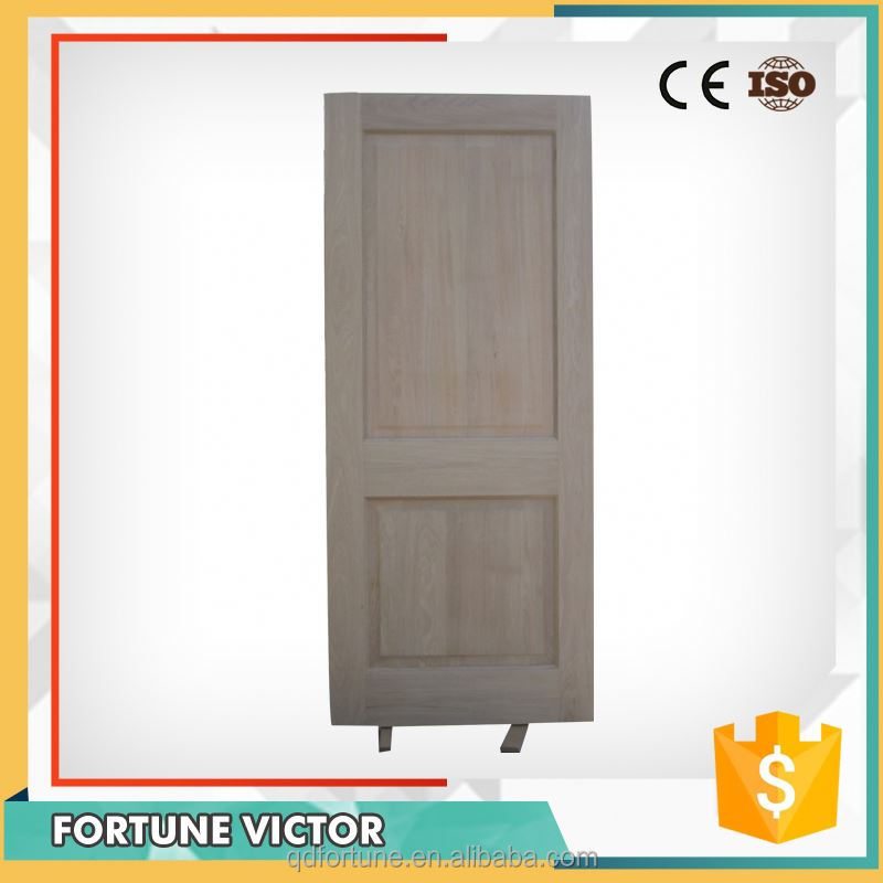 Factory Manufacturer Interior Solid Engineered Red Oak Veneer Door