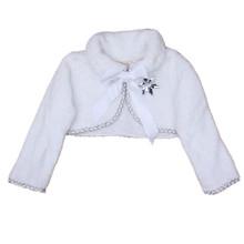 Kids White Cape Elsa Anna Dress Cape Girls Princess Long Sleeve Tops Girl Wedding Cape Flower