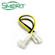 Smart Electronics~Motherboard 4pin power supply CPU power supply 4pin extension cord, 4 p Lengthen cable power supply line