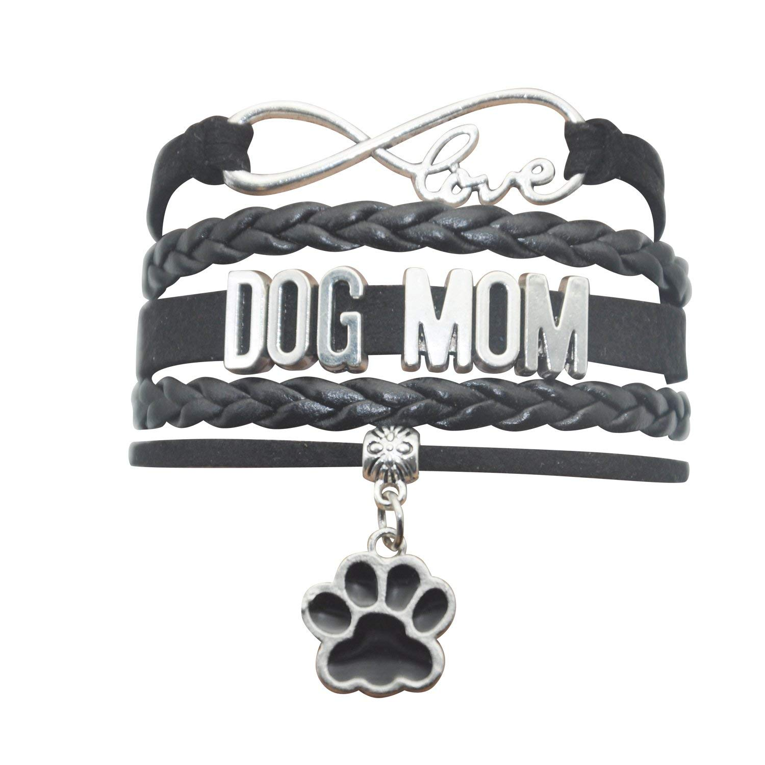 6d2b13ea8 Get Quotations · HHHbeauty Pet Dog Mom Paw Bracelet - Dog Memorial Paw  Charm Bracelet for Women,Men