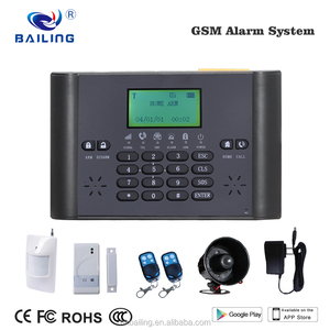 GSM alarm security systems office/home/hotel wireless security alarm system with door/pir sensor alarm system