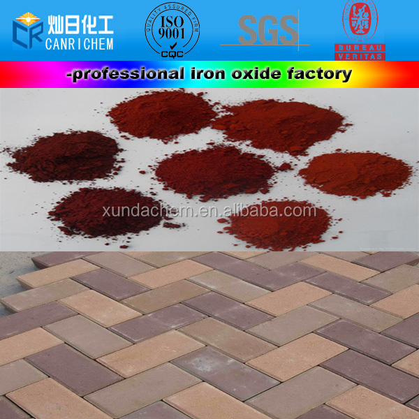 concrete wood pavers manufacturer hot sale iron purity 95 oxide red 130 pigment for
