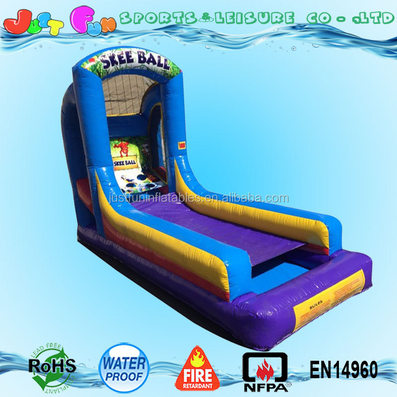 hot selling inflatable skee ball game