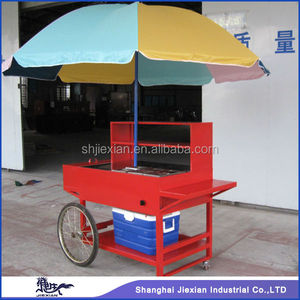 Cheap Deft Portable hand push food stall JX-HS150