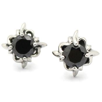 8f8e714d1 Fashion Men Women Punk Black Zircon Stud Earrings Stainless Steel Black  Onyx Stud Earrings for bos