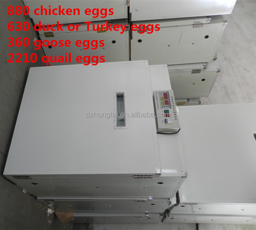 880 chicken eggs full automatic incubator