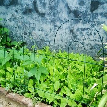 Green Metal Wire Gardening Fence Flower Beds Walkways