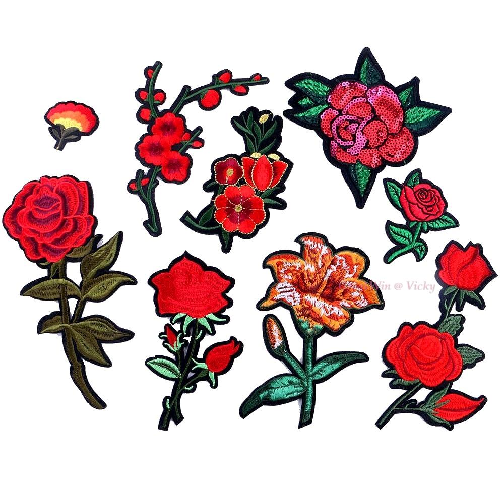 achetez en gros broderie fleurs conceptions en ligne des grossistes broderie fleurs. Black Bedroom Furniture Sets. Home Design Ideas