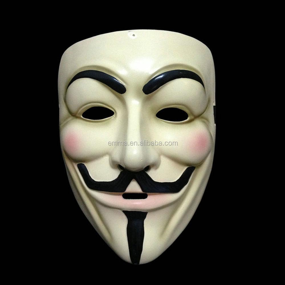 Paling Populer Halloween Anonim Masker Grosir Mewah Gaun Guy Fawkes