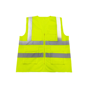 BV01A Hi Vis Wholesale Disposable Police Airport Construction Security Reflective Safety Vest Clothing With Pocket From China