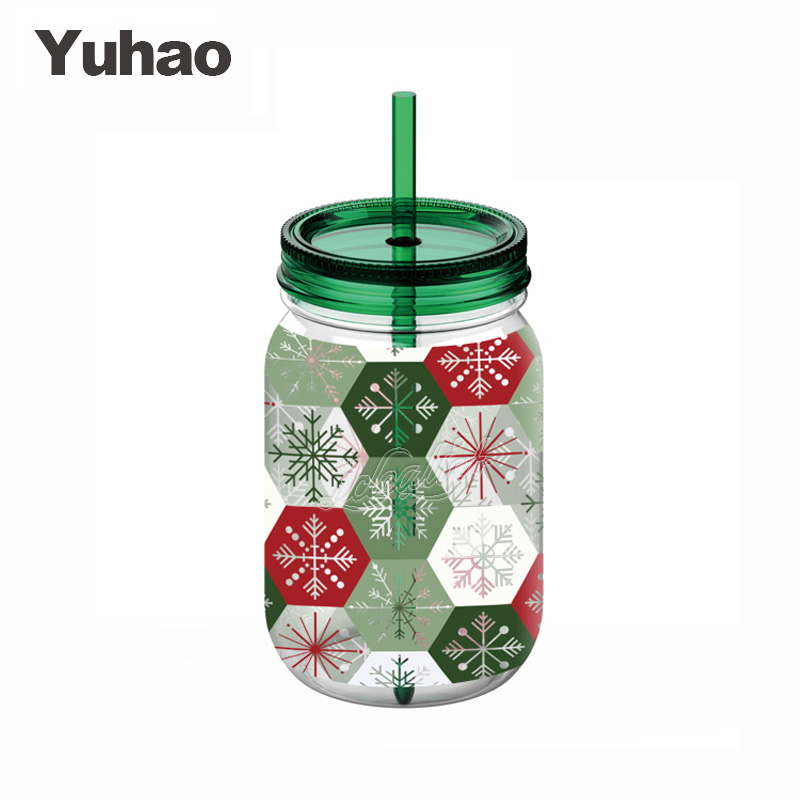 750ml flat plastic bottle water bottle and straw and handle