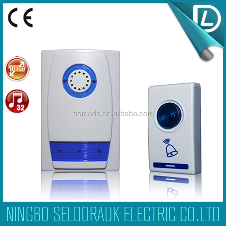 Ce certification passed 32 melodies 100m ac dc funny for Kids room doorbell