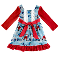 Custom Beautiful Children Full Sleeve Christmas Clothes Kids Pretty Princess Party girls dress
