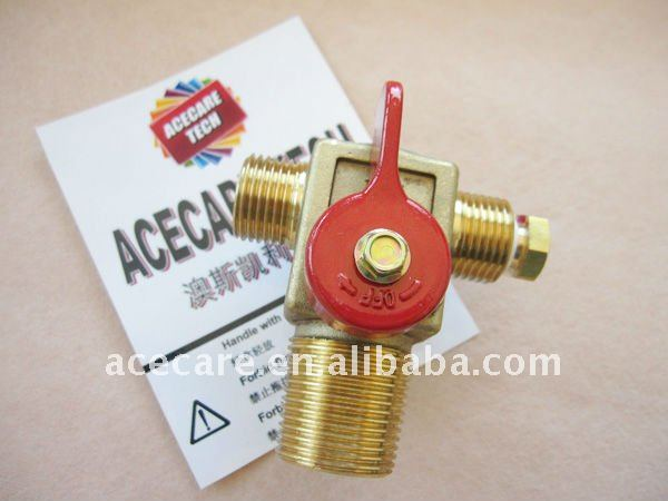 High pressure with Normal tempreture QF-T1 brass Valve For CNG Cylinder from Acecare manufactory