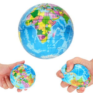 Stress Relief World Map Foam Ball Atlas Globe Palm Ball Planet Earth Ball Funny Toys for Antistress