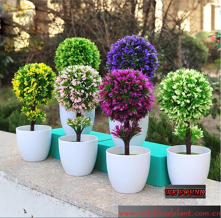 Artificial plants fake mini bonsai for indoor outdoor for Artificial plants indoor decoration