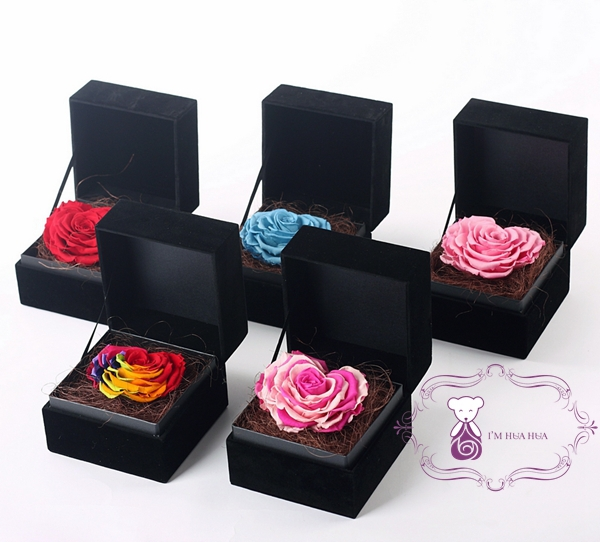 Rainbow Heart Shape Rose Wholesale Fresh Preserved Roses Flower ...