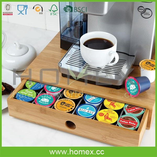 bambou caf pod tiroir de rangement table basse avec tiroir homex fsc bsci usine porteurs. Black Bedroom Furniture Sets. Home Design Ideas