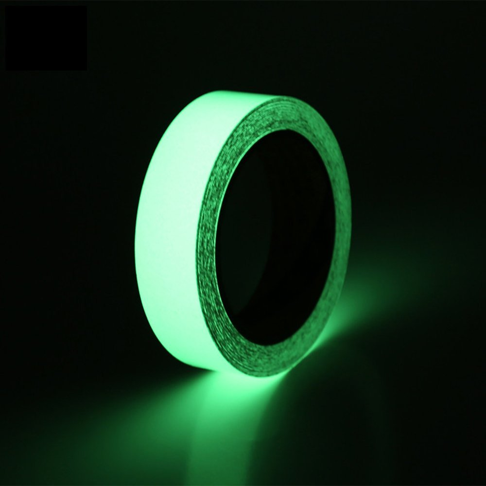 Hraindrop Glow in the Dark Tape Sticker - 10M Length x 2.5CM Width - Green Luminous Duct Tape High Luminance for 10 hours, Photoluminescent, Removable, Waterproof