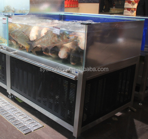 Dingfeng customized ECO supermarket or restaurant 1 layer chiller or heater protein skimmer live fish tank aquarium