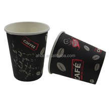 Big size disposable clear paper milk tea cup with printing