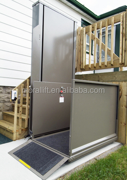 Hydraulic Wheelchair Disabled Lift Vertical Small Home