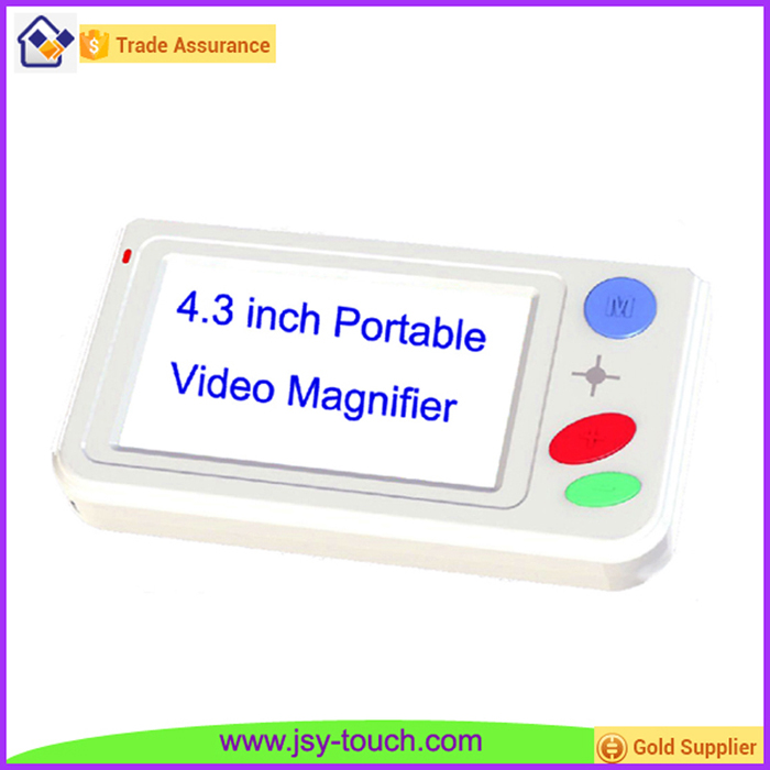 "4.3"" LCD Screen Plastic Material Video Magnifier Lens 40X Zoom for Low Vision"