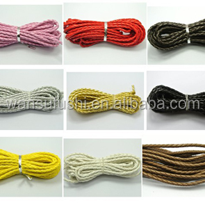 low price hot sale waxed polyester cord for hand bag