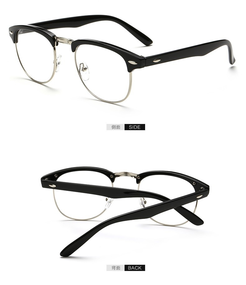 Eyeglass Frame Model Number : Hot Sale New Designer Round Men Glasses Retro Fashion ...