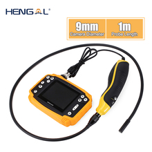 9mm dual-lens portable endoscope camera 0.3MP resolution 3.5'' monitor waterproof IP67 CE rohs FCC approved borescope camera