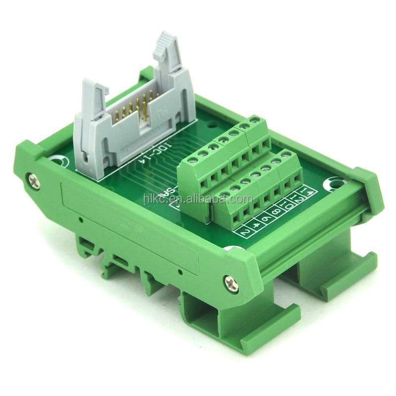 IDC16 DIN Rail Mounted Interface <strong>Module</strong>, Breakout Board, Terminal Block IDC10 spliter
