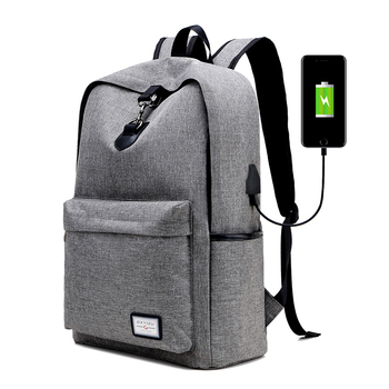 7b64816dfc4e 2018 Casual Popular USB Charging Backpacks Travel Unisex Student School  Backpack Bag For Teenagers