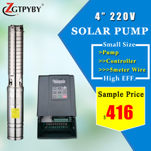 4 inches 1.5hp dc solar submersible water pump pumps