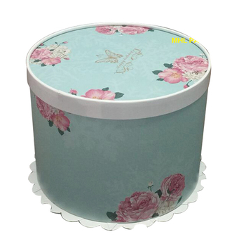 ready goods fold design round paper bakery cake boxes cardboard