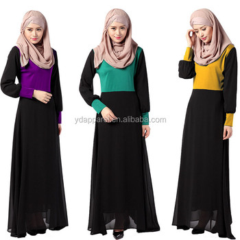 Middle East Malaysia Indonesia long dress islamic clothing for women