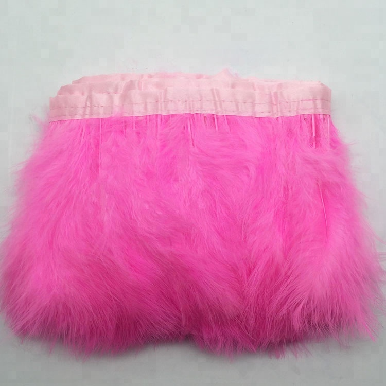 TRIM VARIOUS LENGTHS  AND COLOURS QUALITY MARABOU FLUFFY FEATHER FRINGE