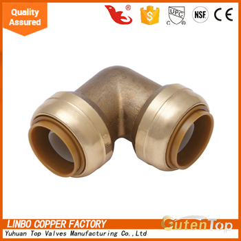 Lb-gutentop Lead Free Push Fit Fittings Tee Equal Brass Pipe ...