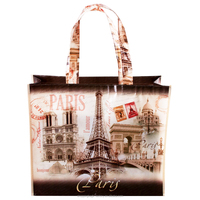 High quality Romantic Eiffel Tower Vintage Paris Souvenir shopping Bags