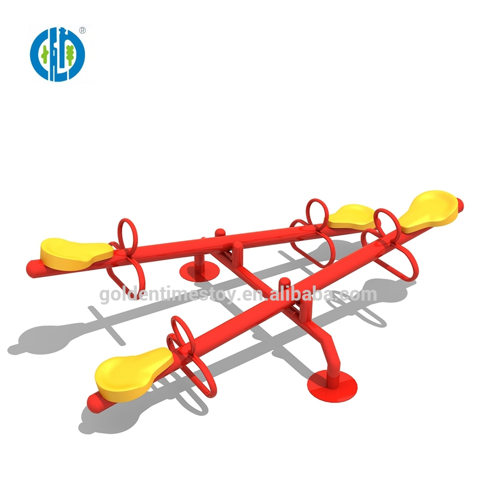 Factory price popular style garden outdoor playground funny rocker seesaw