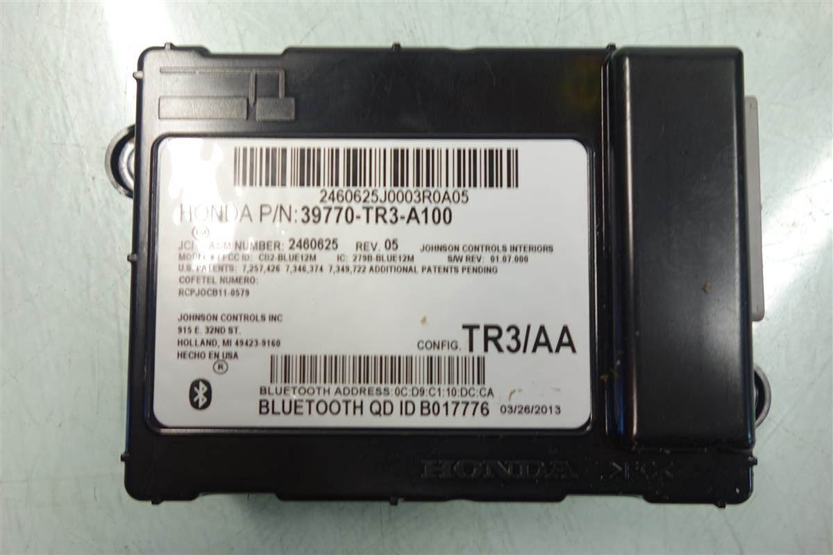 Honda Civic HFT Bluetooth Blue Tooth Control Module Unit Computer 39770