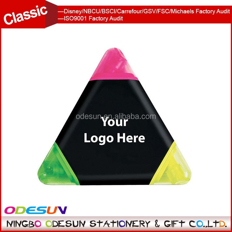 Universal NBCU FAMA BSCI GSV Carrefour FSC Factory Audit Manufacturer Mini Highlighter Triangle Marker Pen For Promotion