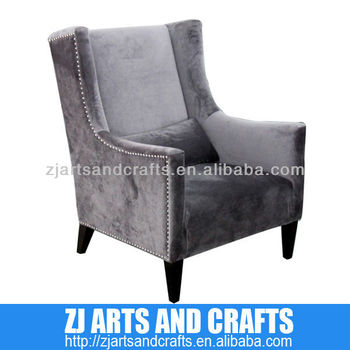 Fabulous 0472 Modern Sofa Silver Velvet Arm Chair With Silver Studs Around Arms And Base With Wenge Finished Legs Buy Velvet Recliner Sofa Leader Sofa Forskolin Free Trial Chair Design Images Forskolin Free Trialorg