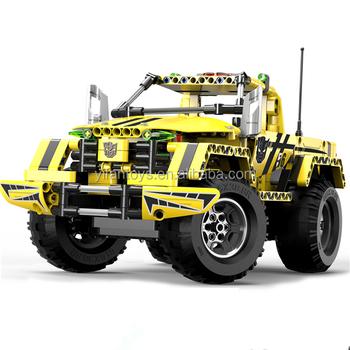 Newest C51003w 514 Pcs Remote Control Abs Blocks Car Toys Diy
