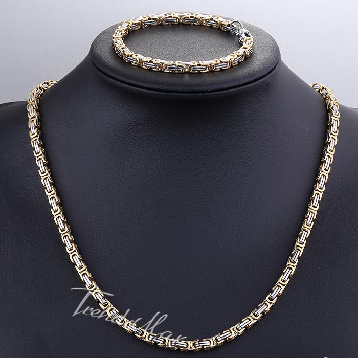 Mens Gold Byzantine Necklace: Aliexpress.com : Buy JEWELRY SET 5MM MENS Chain WOMENS