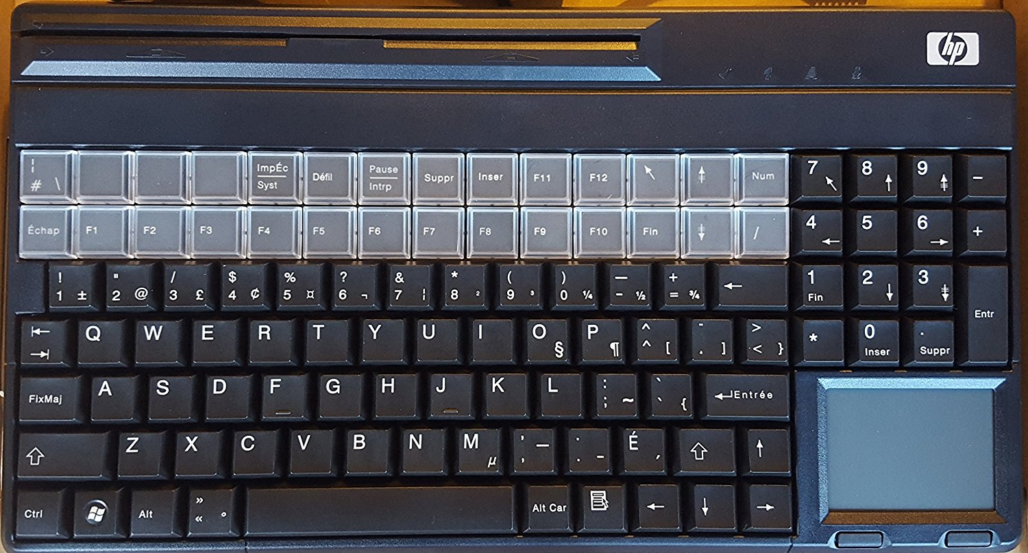 Hp Smart Buy Keyboard Usb Pos Qwerty With 28 Programmable Keys And Touchpad
