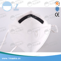 Fashion design white respirator disposable nonwoven protective dust mask