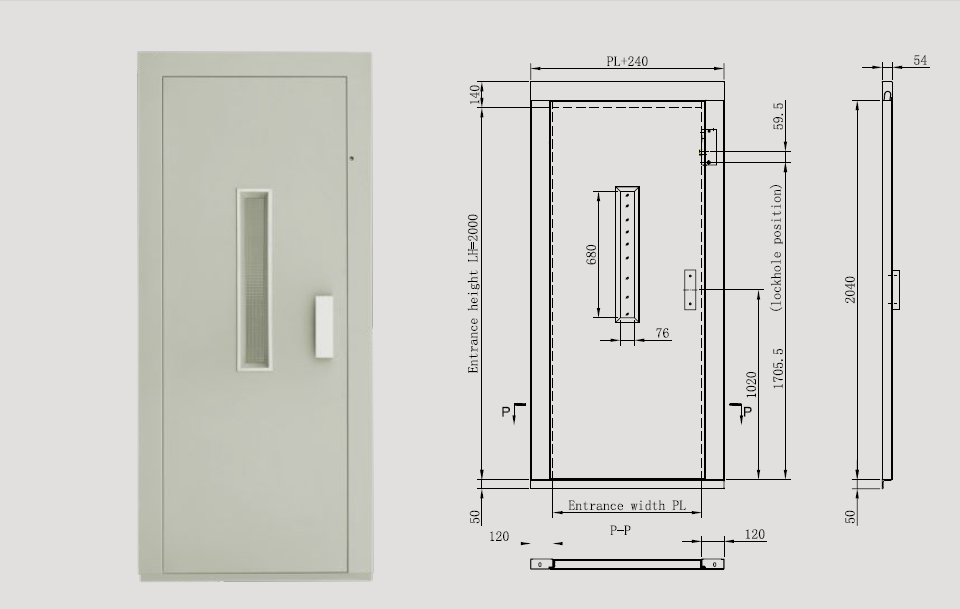 Elevator Semi Automatic Door Swing Door Buy Swing
